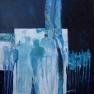 - Blue silhouettes -  100/100  cm