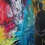 - Catch me -  acryl op karton  40/50  cm
