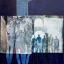 - Symphony in blue -  100/100  cm  verkocht